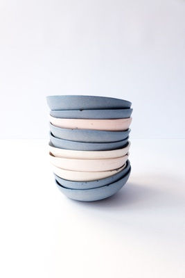 set of 2 blue soya bowls