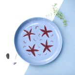 Red stars. Plate